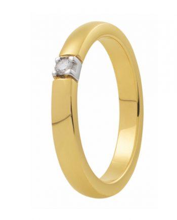 Zoekt u een geelgouden verlovingsring met een groeibriljant van 0.015 ct.? Verlovingsringkopen.nl is de verlovingsringen specialist!