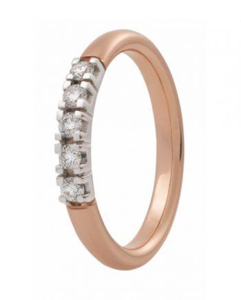 Zoekt u een roodgouden verlovingsring met vijf groeibriljanten van 0.015 ct.? Verlovingsringkopen.nl is de verlovingsringen specialist!