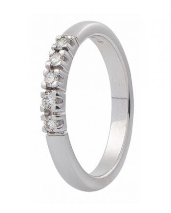 Zoekt u een witgouden verlovingsring met vijf groeibriljanten van 0.015 ct.? Verlovingsringkopen.nl is de verlovingsringen specialist!