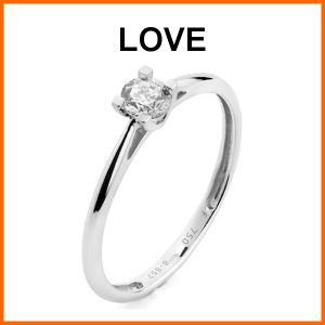 verlovingsring aanbieding model love met 0,05 ct. briljant