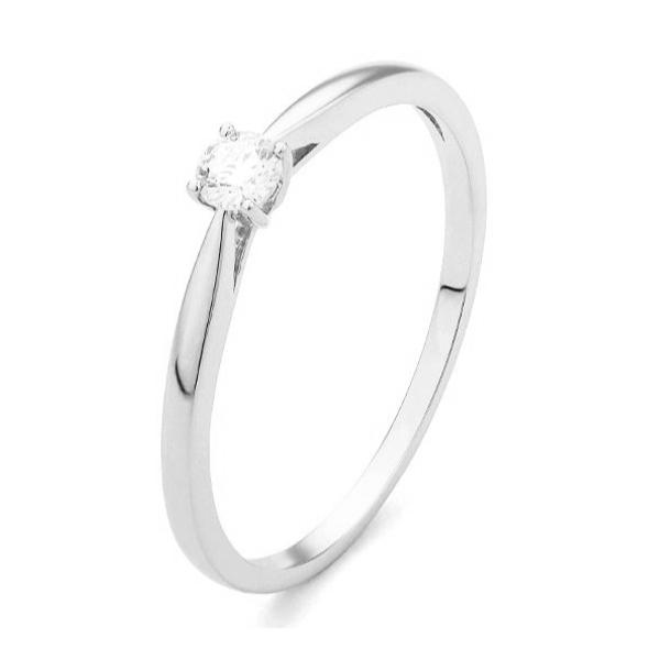 Witgouden verlovingsring model Happel met 0.01 ct. diamant. Verlovingsringen' VerlovingsRingKopen.nl