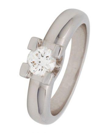 witgouden groeibriljant ring van het merk Eclat met 0,56 ct. briljant. Verlovingsring model R22-56