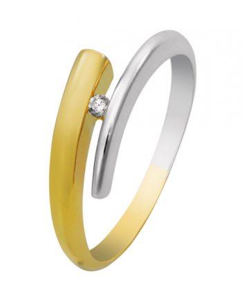 bicolor gouden verlovingsring