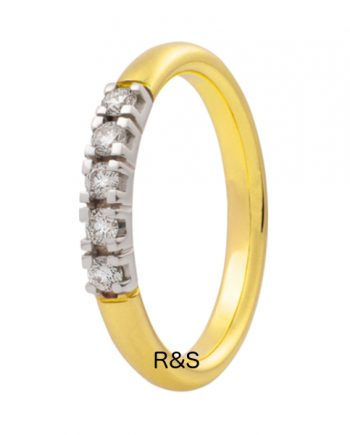 Zoekt u een geelgouden verlovingsring met vijf groeibriljanten van 0.015 ct.? Verlovingsringkopen.nl is de verlovingsringen specialist!