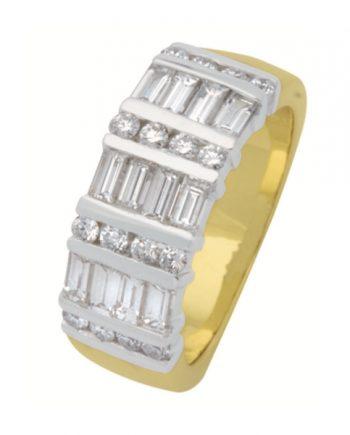 geelgouden fantasie alliance verlovingsring met diamant van het merk Eclat, model R1714