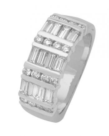 witgouden fantasie alliance verlovingsring met diamant van het merk Eclat, model R1714
